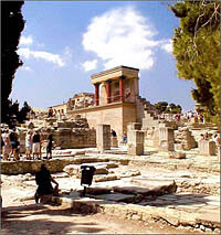 The Knossos Palace ruins on Crete