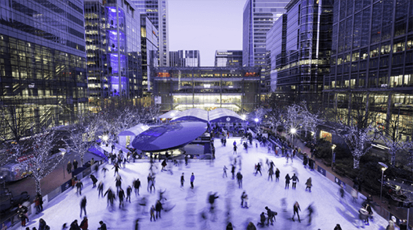 Ice skating at Broadgate Ice Rink