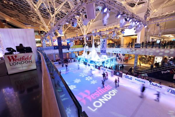 Skating at Westfield London
