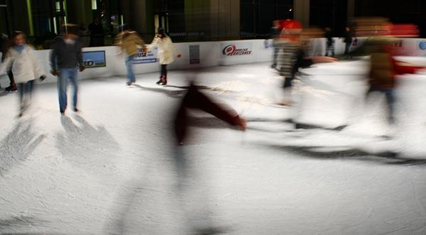 Indoor ice skating