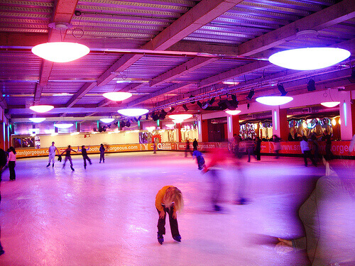 Skating at Queens Ice and Bowl