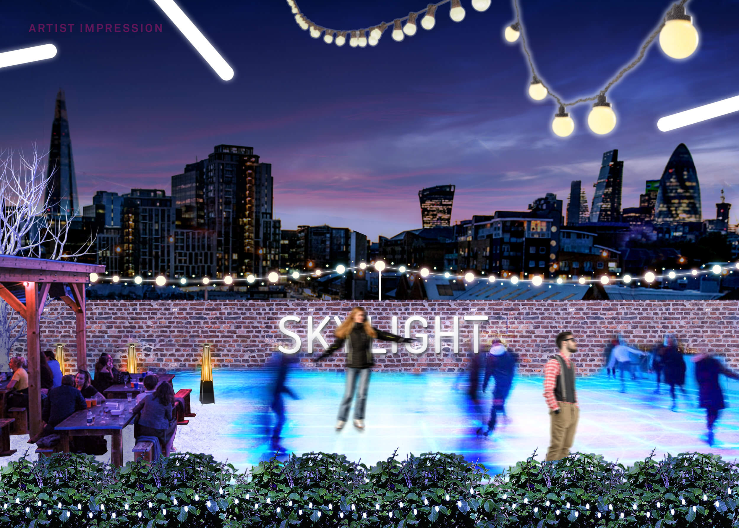 Skating at Skylight London