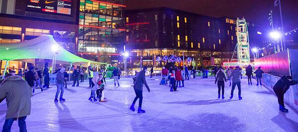 Ice skating at Wembley Park