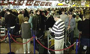 Horrible airport queues and delays