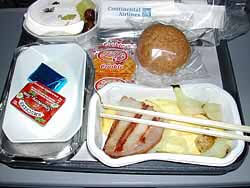 Horrible airplane food