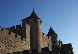 A Carcassonne fortification in France