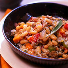 Sausage and sage with white beans in Tuscan style