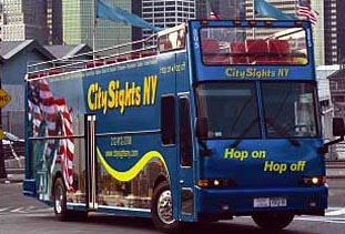 A double-decker bus from City Sights NY