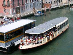 A Vaporetto in Venice, Italy