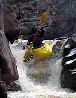 Whitewater kayaking in Colorado rivers