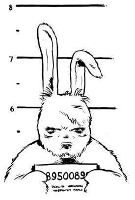 A bad boy Easter Bunny