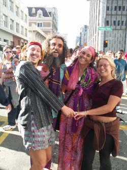 A few hippies in New York
