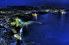 Night drive along the Amalfi Coast in Italy