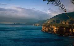 The Launceston to Hobart drive in Tasmania
