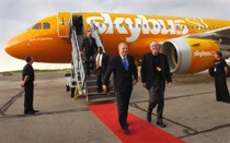 Now defunct airline Skybus during its launch