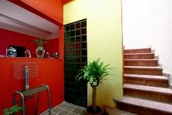 Inside Hostal San Sebastian in Mexico City