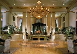 A gorgeous hotel lobby