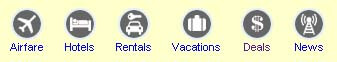 Lowfares.com navigation bar