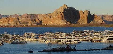 Houseboats on Lake Powell, Arizona