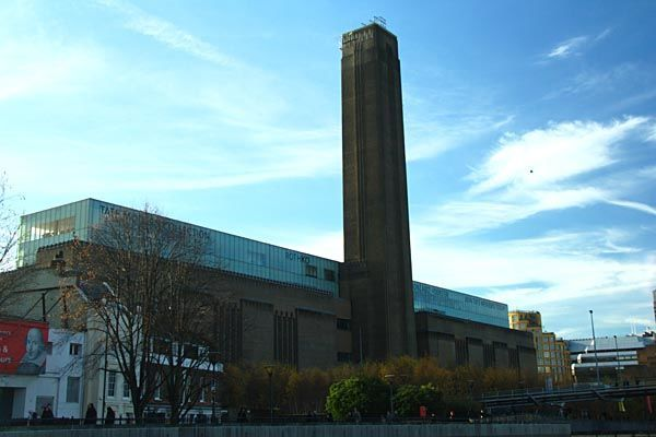Tate Modern Museum in London, in the old Southbank Power Station Building