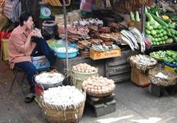 Phnom Penh market in Cambodia