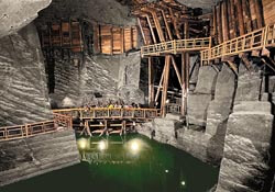 Wieliczka Salt Mine tourist path in Poland