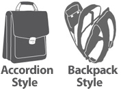 Checkpoint friendly laptop bag designs