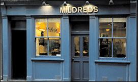 Mildreds vegetarian restaurant in Soho, London