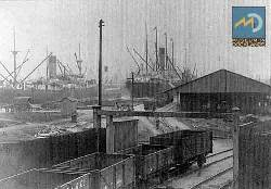 Historic London railyard in the East End