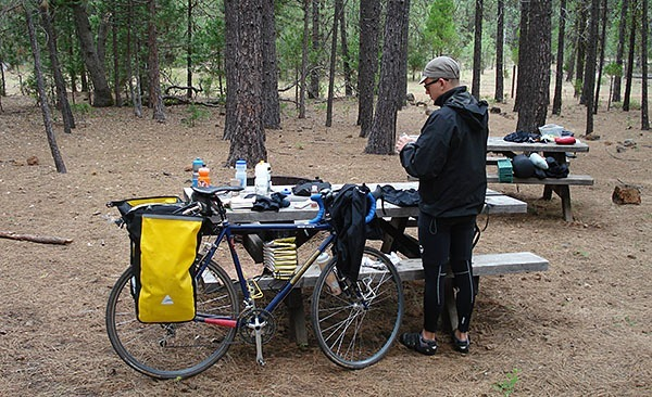 Bike packing in the forest