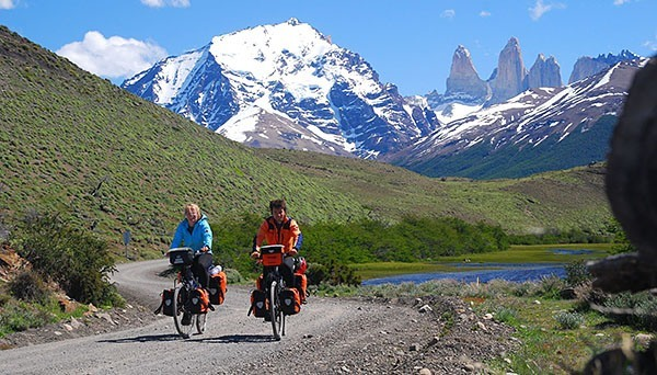Bike touring in the mountains