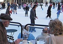 Cafe at ice skating rink