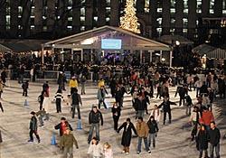 Night time ice skating