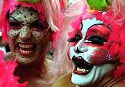 Carnival revellers in Rio de Janeiro