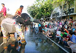 Songkran festivities in Thailand