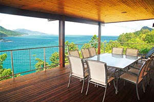 View from the  balcony at the Great Barrier Reef