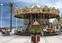 A merry-go-round in Canet-Plage near Perpignan