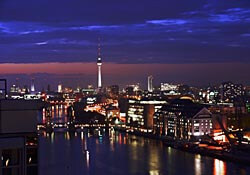 Berlin's Mitte district at night