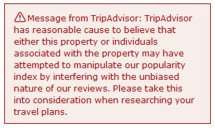 TripAdvisor warning message