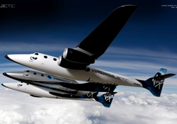 Virgin Galactic mothership and shuttle