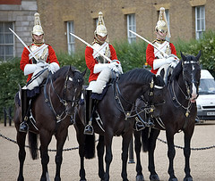 Changing of the guard in London - photo by .kol tregaskes