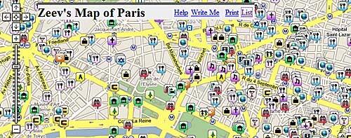 Screenshot of Zeev's map of Paris
