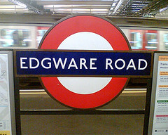 Tube sign at Edgware Road