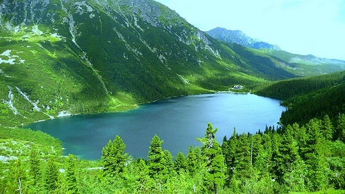 Morskie Oko lake in Tatra National Park, Poland