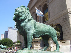 Lion outside the Art Institute of Chicago - photo by architekt2 on flickr