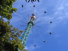 Tivoli amusement park ride, Copenhagen - photo by Stig Nyygard on flickr