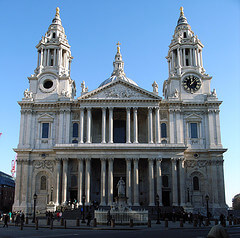 St. Paul's Cathedral front facade, London