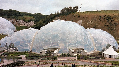 The Eden Project biomes in Cornwall