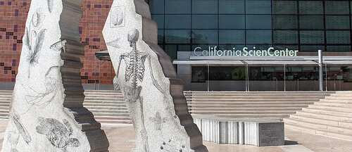 The entrance to the California Science Center, Los Angeles