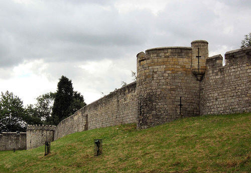 The north City Walls of York, England